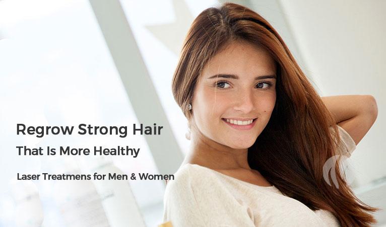 Regrow Healthy Hair - Laser Hair Treatment Options